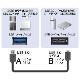 ADATA/エイデータ対応  USB3.0 MicroB USBケーブル 1.0m A-マイクロB  ハードディスクやカメラHDD接続などに  送料無料【メール便の場合】