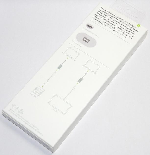アップル純正 Apple Thunderbolt 3(USB-C)- Thunderbolt 2アダプタ   MMEL2AM/A  国内純正品 送料無料【ゆうパケット】