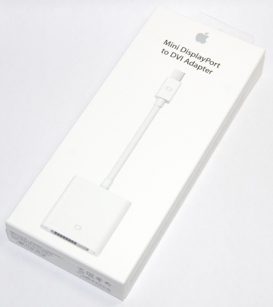 アップル純正 Apple Mini DisplayPort - DVIアダプタ  MB570Z/B  国内純正品  iPhone/iPad/iPod対応 送料無料【ゆうパケット】
