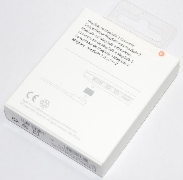 アップル純正 Apple MagSafe - MagSafe 2コンバータ  MD504ZM/A  国内純正品 送料無料【ゆうパケット】