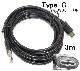 USB Type-C データ転送充電ケーブル USB2.0  3m  56Kレジスタ使用 タイプCケーブル XPERIA・ニンテンドースイッチなどの充電に