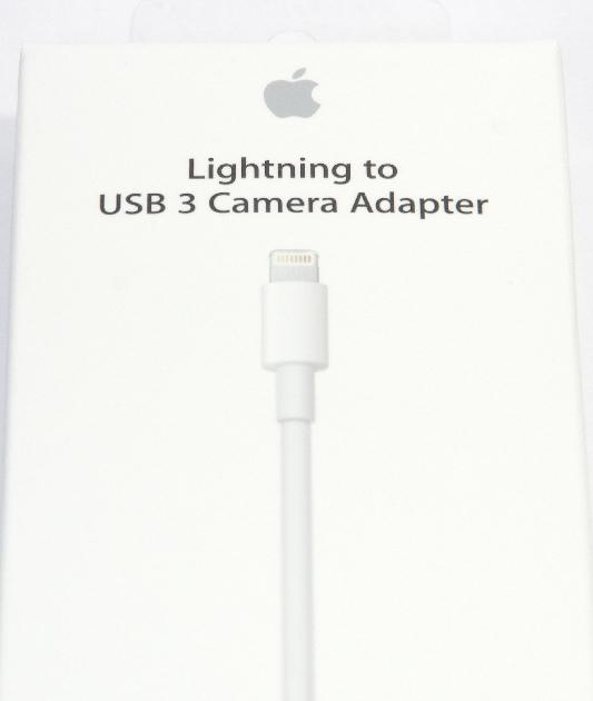 アップル純正 Apple Lightning - USB 3カメラアダプタ  MKOW2AM/A  国内純正品  iPhone/iPad対応 送料無料【ゆうパケット】