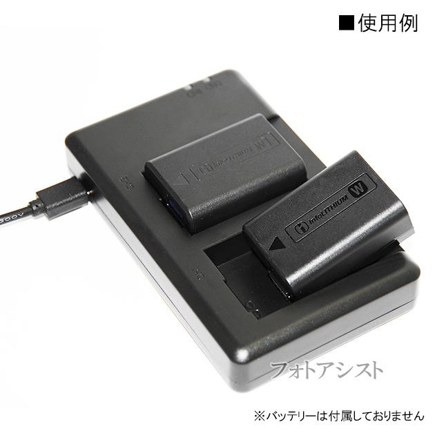 【互換品】SONY BC-TRW・BC-VW1互換充電器 NP-FW50対応2個同時充電器  送料無料【メール便の場合】 保証付き