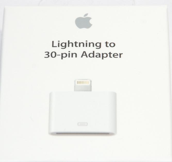 アップル純正 Apple Lightning - 30ピンアダプタ  MD823AM/A  国内純正品  iPhone/iPad/iPod対応 送料無料【ゆうパケット】
