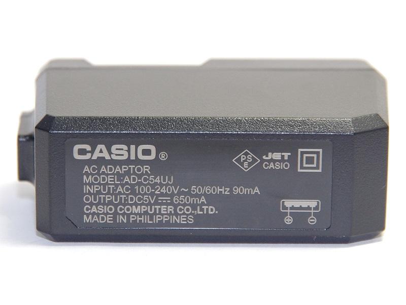 CASIO カシオ AD-C54UJ デジタルカメラ EXILIM用ACアダプター カシオ純正 送料無料【ゆうパケット】ADC54UJ