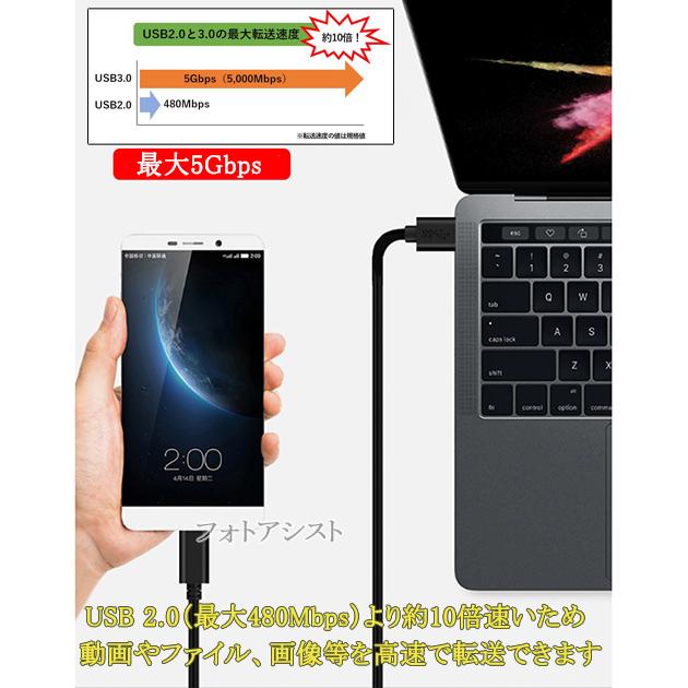 【互換品】その他メーカー対応 Part2  (USB Type-C ) A-タイプC 1.0m USB 3.1 送料無料【メール便の場合】