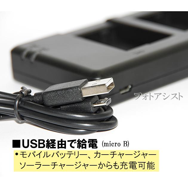 【互換品】 SONY  ソニー NP-FM50 NP-F970 NP-QM91D など互換充電器  USB充電タイプ 保証付き 2個同時充電  送料無料【メール便の場合】