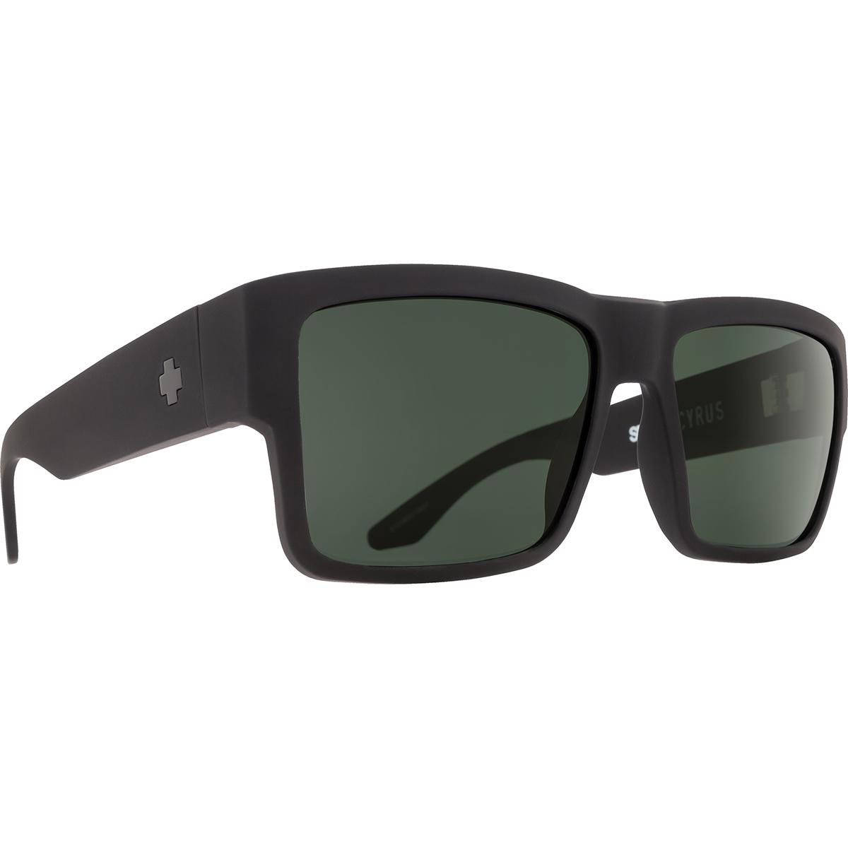 SPY SUNGLASSES スパイ サングラス CYRUS サイラス SOFT MATTE BLACK - HAPPY GRAY GREEN POLAR 673180973864