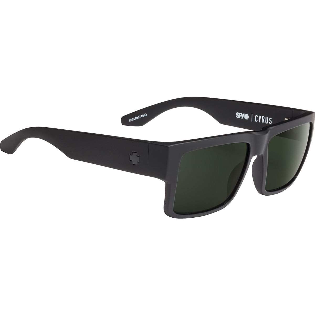 SPY SUNGLASSES スパイ サングラス CYRUS サイラス MATTE BLACK - HAPPY GRAY GREEN 673180374863