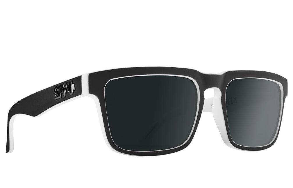 SPY Optic® Helm Men's Sunglasses - White wall - HD Plus Gray Green Polar with Black Spectra Mirror - #6700000000073