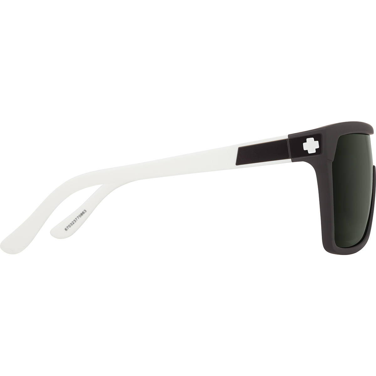 SPY SUNGLASSES スパイ サングラス FLYNN フライン MATTE EBONY/IVORY - HAPPY GRAY GREEN 670323770863