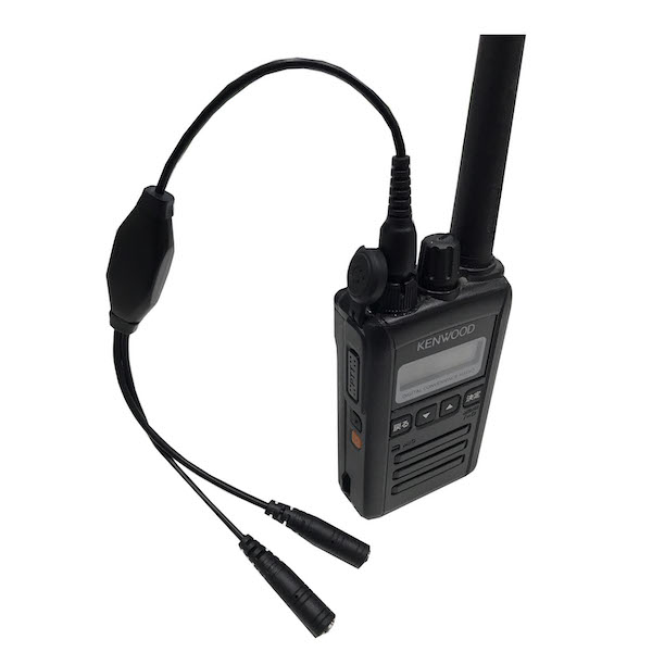 ケンウッド KENWOOD デミトス DEMITOSS トランシーバー用 プラグ変換ケーブル 1ピンから2ピンへ変換 TPZ-D510 / TPZ-D553SCH / TPZ-D553MCH / UBZ-M51L / UBZ-M51S / UBZ-M31 / TCP-D551 特定小電力 簡易登録業務無線など FH12P デジタル簡易無線対応