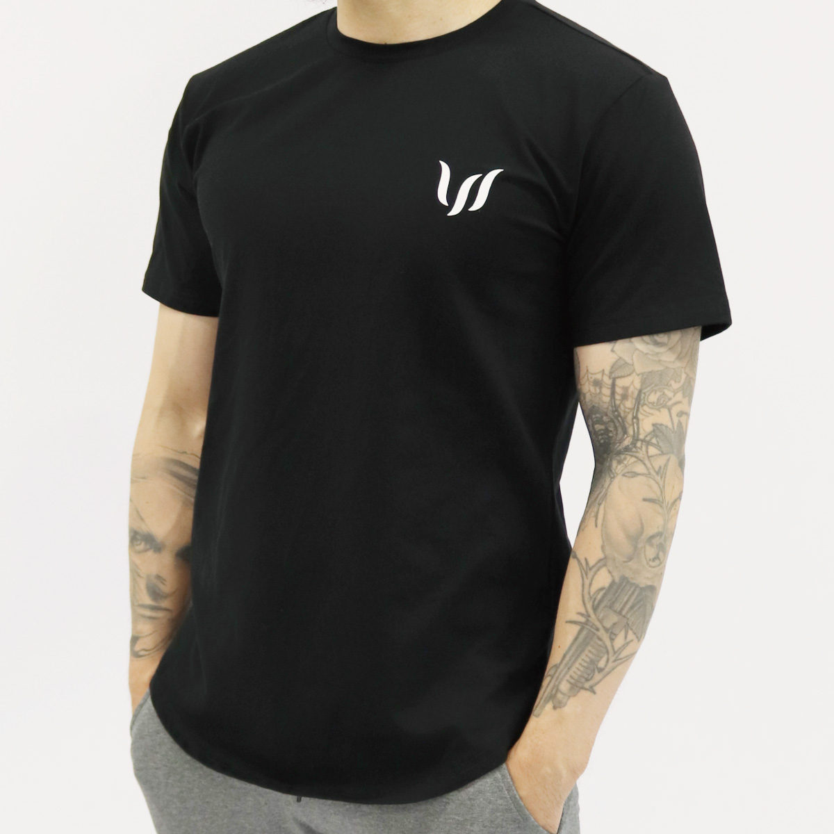NORMAL SHORT TEE - BLACK