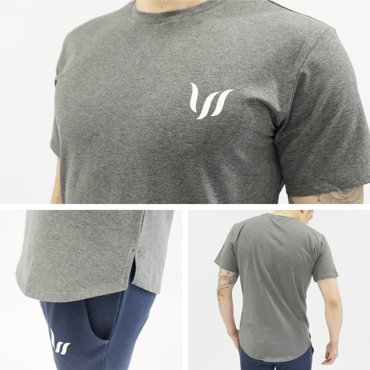 NORMAL SHORT TEE - CHARCOAL GRAY