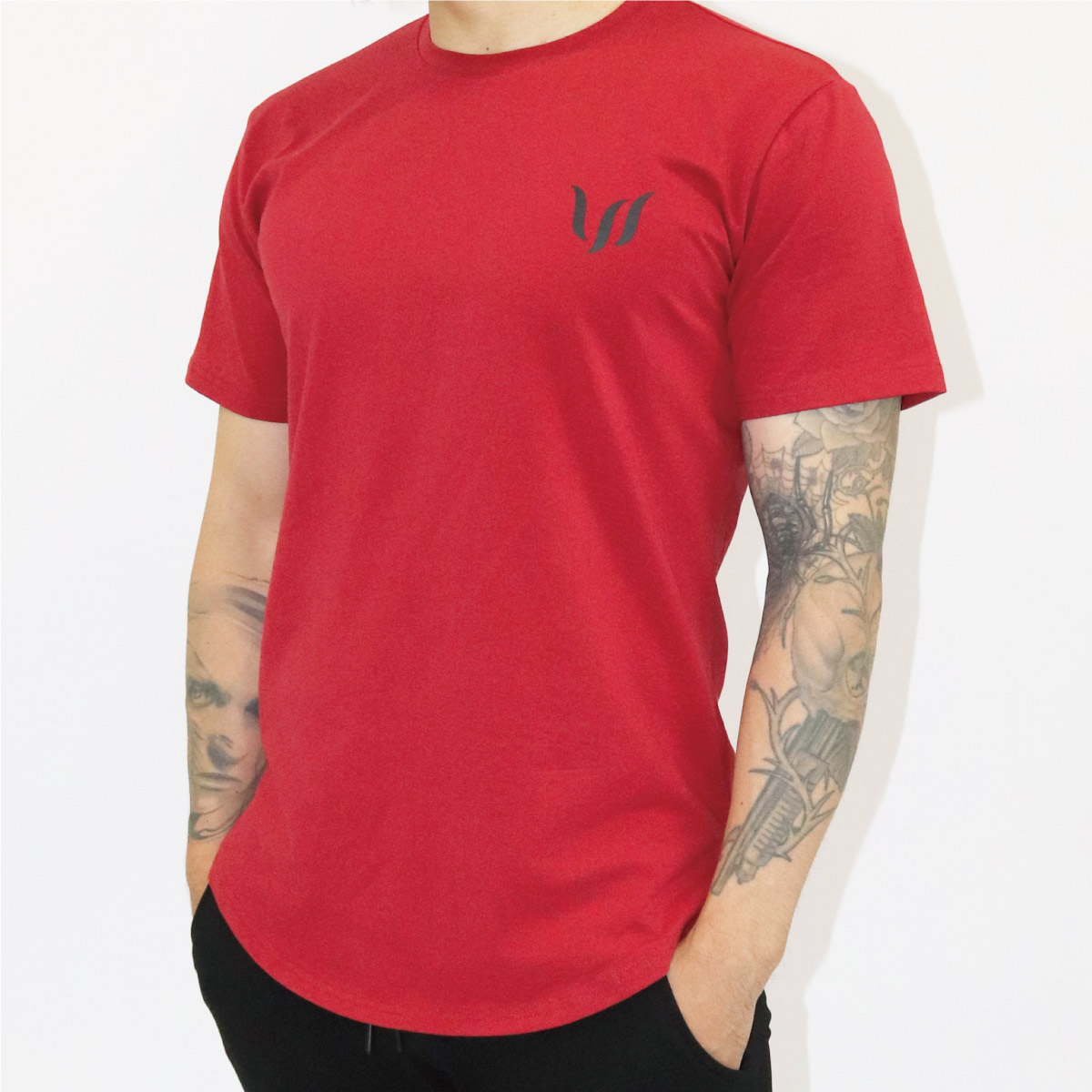 NORMAL SHORT TEE - RED