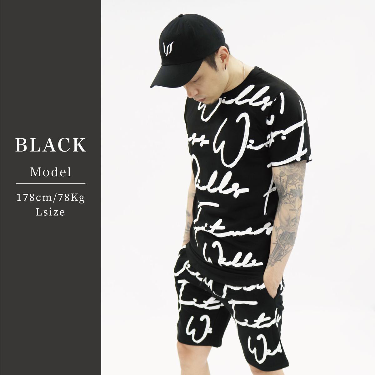 SCRIPT SHORTS - BLACK