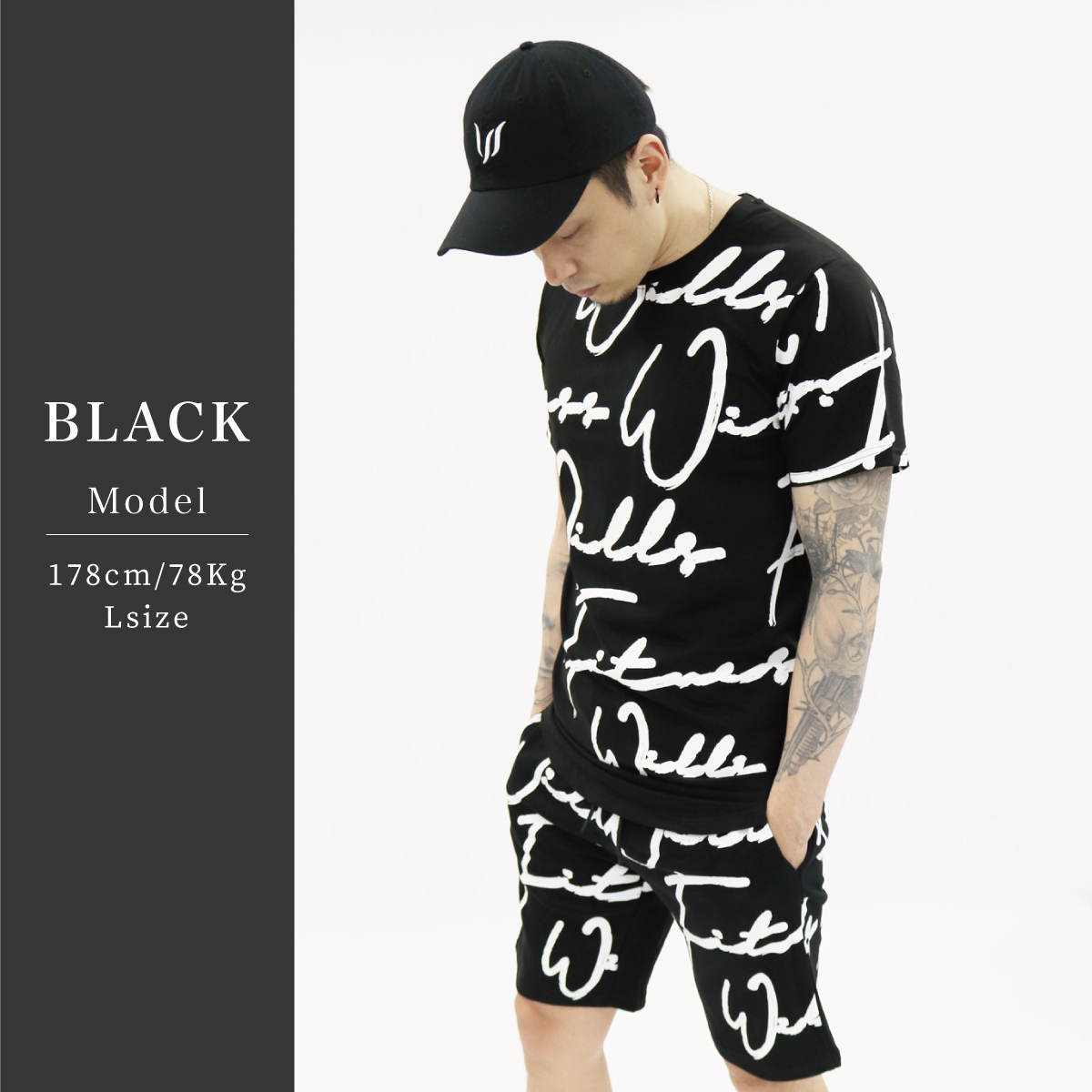 SCRIPT TEE - BLACK