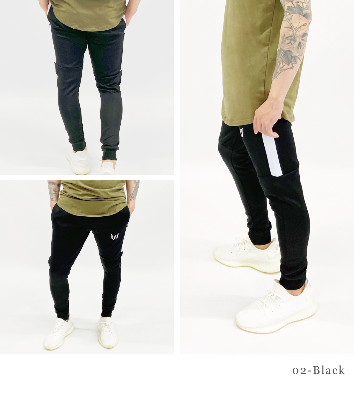 CORE WOVEN TRACK PANTS - BLACK