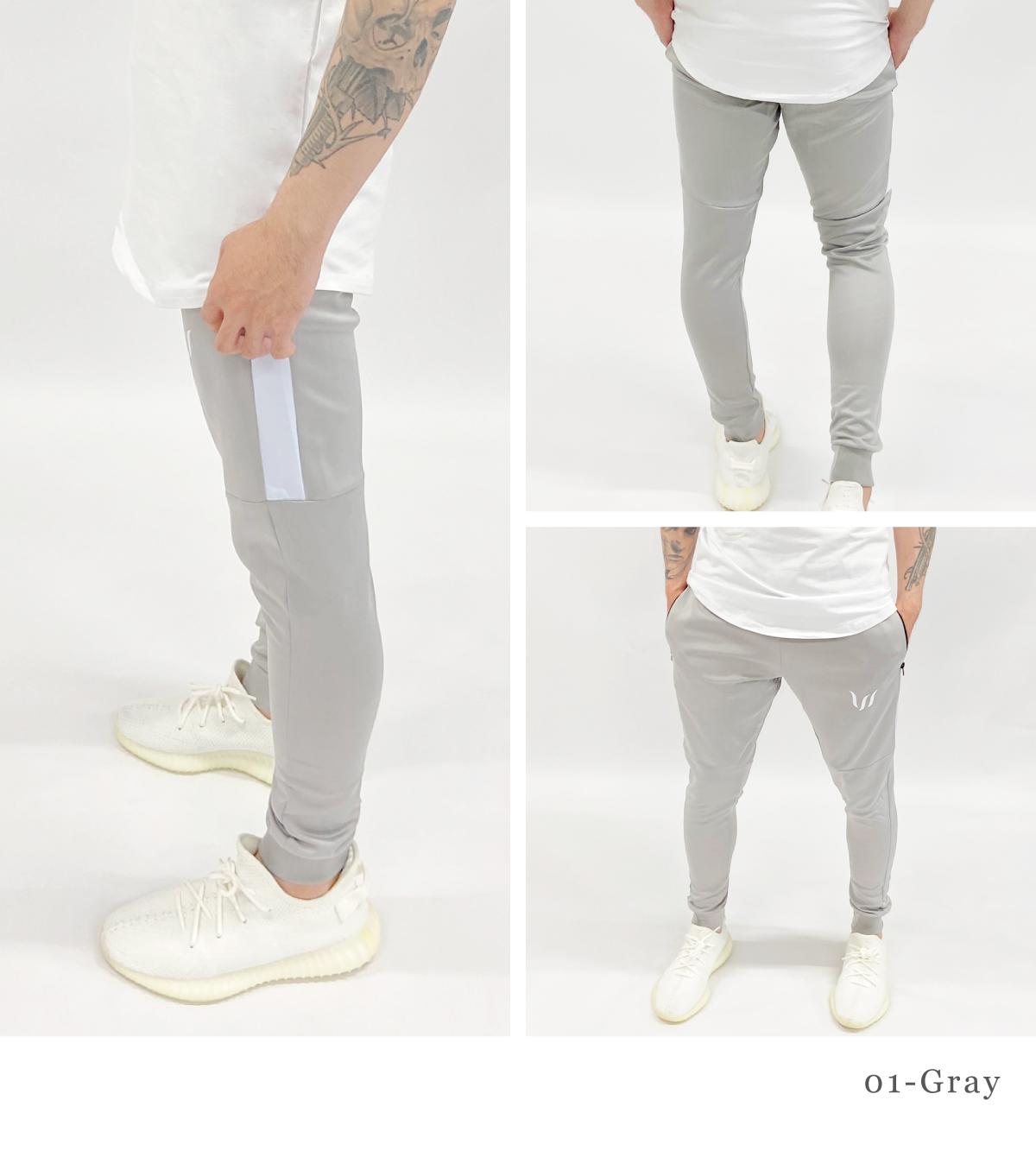 CORE WOVEN TRACK PANTS - GRAY