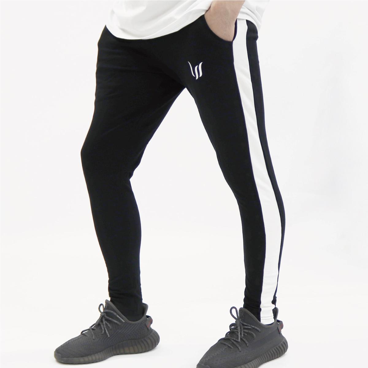 JOGGERS PANTS - BLACK/WHITE