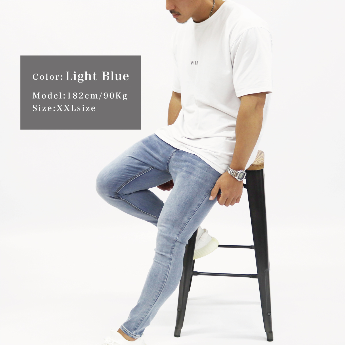 SUPER STRETCH SKINNY JEANS - LIGHT BLUE