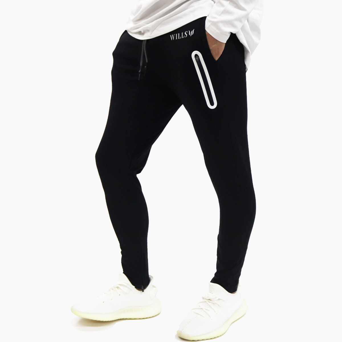 STRETCH UTILITY PANTS - BLACK