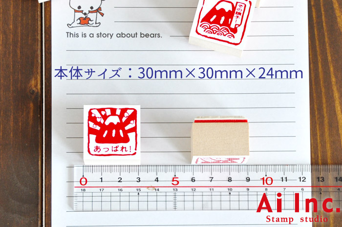 お相撲さん評価印・先生スタンプ5個セット【たいへんすばらしい みました もうひといき がんばりました】
