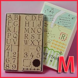 オーナメントスタンプ-アルファベットMサイズ-