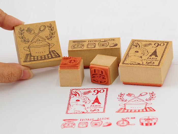 Merry Palette Stamp-かわいいスタンプ/楽しいハンコ 手作り雑貨・手芸用に最適。メリーパレットスタンプ・Patissiere【オリジナルスタンプ・アンティークスタンプ・かわいいスタンプ・はんこ・ハンコ・イド・布】