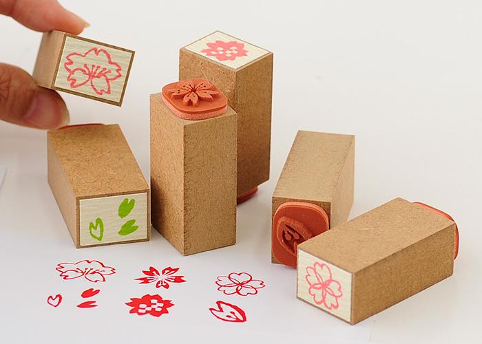 スタンプ工房愛オリジナル和柄スタンプ桐の箱に入った6本セット【かわいいスタンプ 和風スタンプ はんこ ハンコ ゴム印】