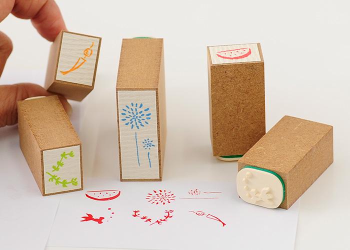 スタンプ工房愛オリジナル和柄スタンプ桐の箱に入った5本セット【かわいいスタンプ 和風スタンプ はんこ ハンコ ゴム印】