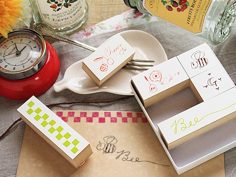 洋風シリーズ-キッチン&ガーデン- 【オリジナルスタンプ・アンティークスタンプ・かわいいスタンプ・はんこ・ハンコ・ハンドメイド・布】