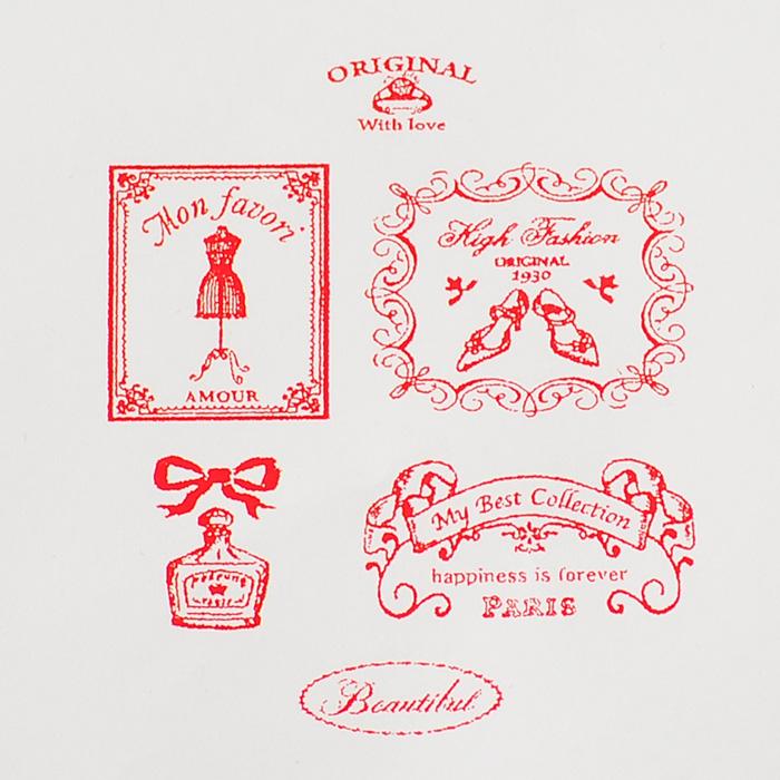 ブリキ缶入りの可愛いスタンプセットチアフルスタンプ-cheerful stamp 「Couturier」- 【オリジナルスタンプ・アンティークスタンプ・かわいいスタンプ・はんこ・ハンコ・イド・布】