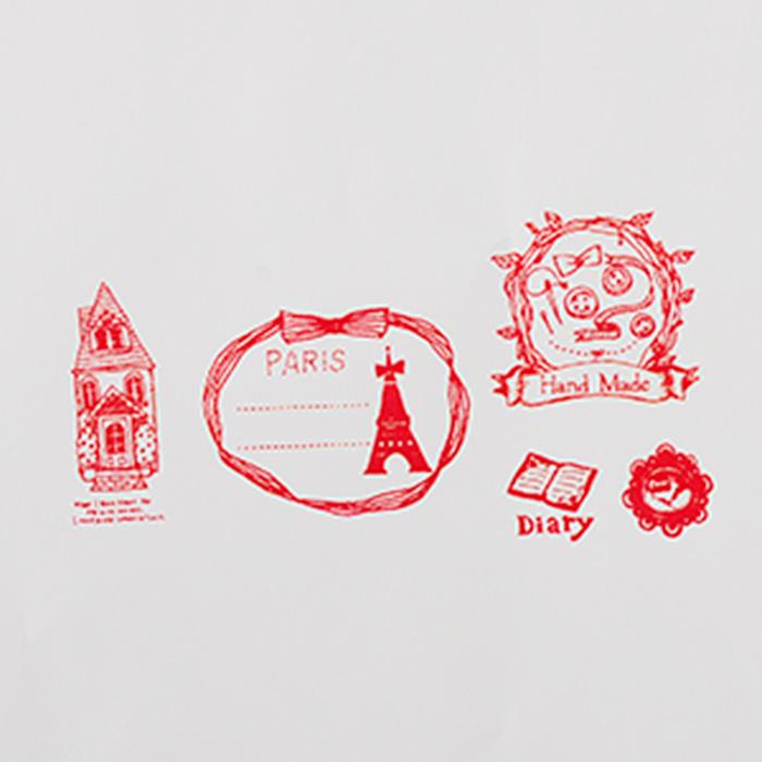 Merry Palette Stamp-かわいいスタンプ/楽しいハンコ 手作り雑貨・手芸用に最適。メリーパレットスタンプ・Couturier【オリジナルスタンプ・アンティークスタンプ・かわいいスタンプ・はんこ・ハンコ・イド・布】