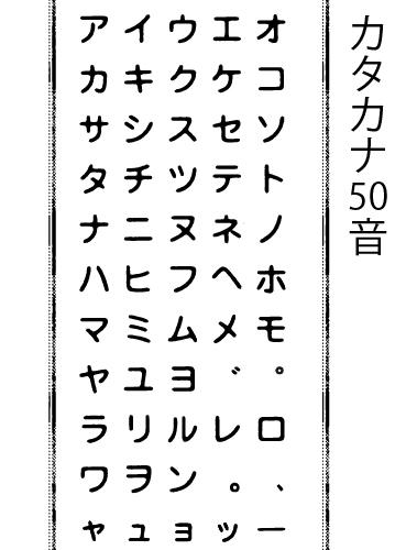 シャッフルスタンプ-カタカナセット10mm-