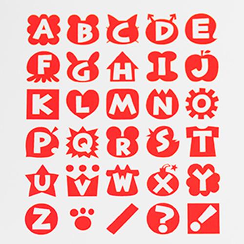 アルファベットスタンプ 雑貨-【アルファベットスタンプ ABCスタンプ 英語スタンプセット 英字文字 はんこ ハンコ ハンドメイド 動物 雑貨 カリグラフィー 布】