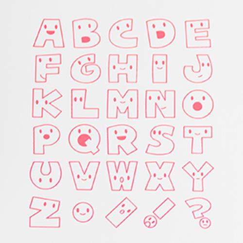 アルファベットスタンプ 雑貨-【アルファベットスタンプ ABCスタンプ 英語スタンプセット 英字文字 はんこ ハンコ ハンドメイド 動物 かおもじ 雑貨 カリグラフィー 布】