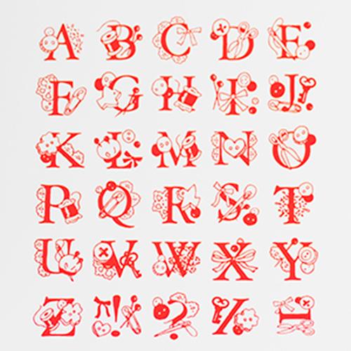 アルファベットスタンプ 雑貨-【アルファベットスタンプ ABCスタンプ 英語スタンプセット 英字文字 はんこ ハンコ ハンドメイド ソーイング カリグラフィー 布】