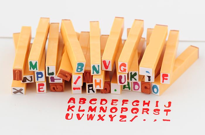 アルファベットスタンプ -【アルファベットスタンプ ABCスタンプ 英語スタンプセット 英字文字 はんこ ハンコ ハンドメイド 動物 カリグラフィー 布】