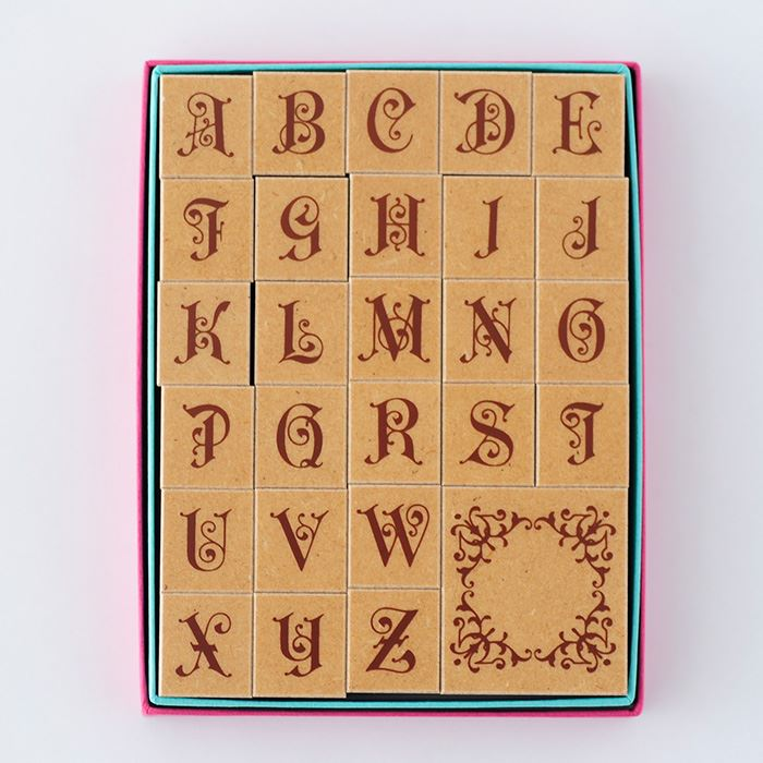 デコ・アルファベットスタンプセット--