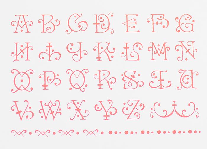 おしゃれアルファベットスタンプ ルネサンス -【アルファベットスタンプ ABCスタンプ 英語スタンプセット 英字文字 はんこ ハンコ ハンドメイド カリグラフィー 布】