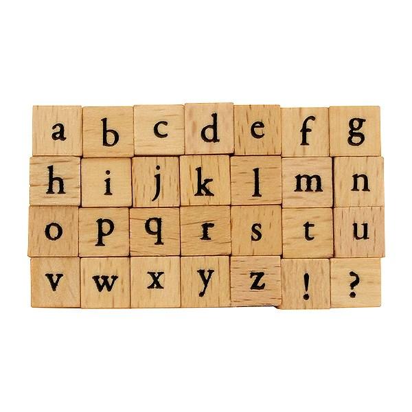 プチ文字スタンプセット/小/アルファベット小文字