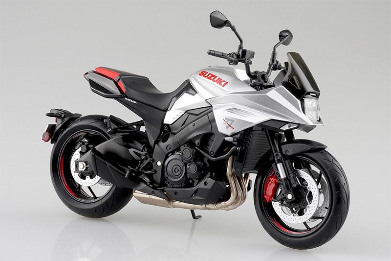 SKYNET 1/12 完成品バイク SUZUKI GSX-S1000S KATANA フルオプション メタリックミスティックシルバー