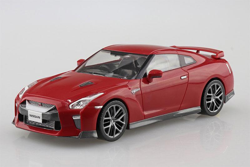 アオシマ プラモデル 1/32 ザ・スナップキット No.7-E ニッサン NISSAN GT-R バイブラントレッド