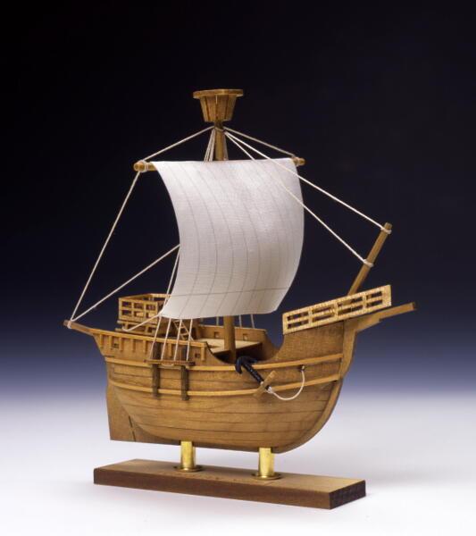 【ネコポス送料無料】 ウッディジョー ミニ帆船 カタロニア船 【代引き不可、他商品との同梱不可】