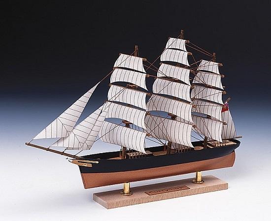 【ネコポス送料無料】 ウッディジョー ミニ帆船 カティサーク 【代引き不可、他商品との同梱不可】
