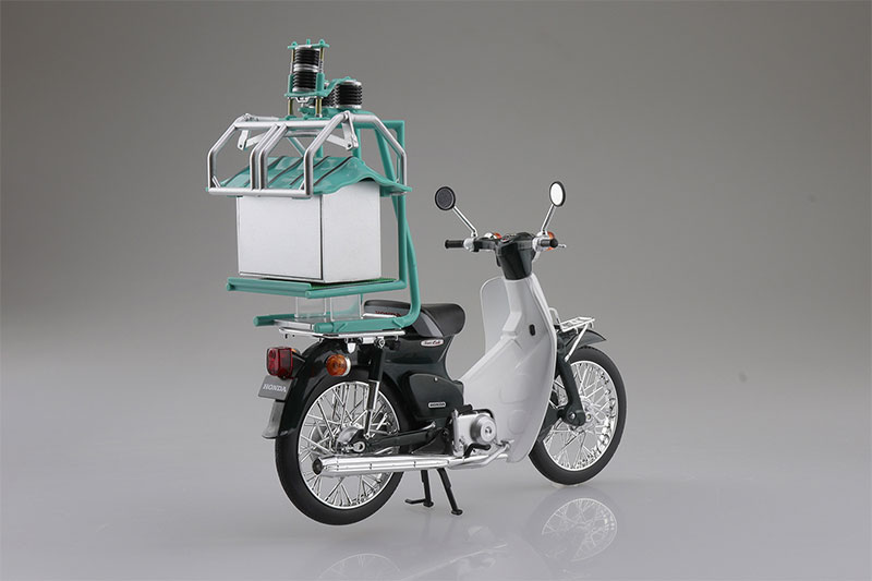 SKYNET 1/12 完成品バイク Honda スーパーカブ50 出前機付