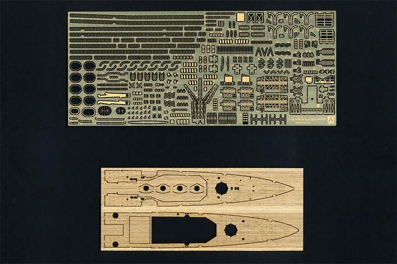 【ネコポス送料無料】 アオシマ 1/700 ウォーターライン ディテールアップ 英国海軍 重巡洋艦 エクセターエッチングパーツセット 【代引き不可、他商品との同梱不可】