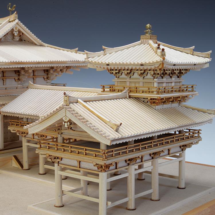 ウッディジョー 木製模型 1/75 平等院 鳳凰堂