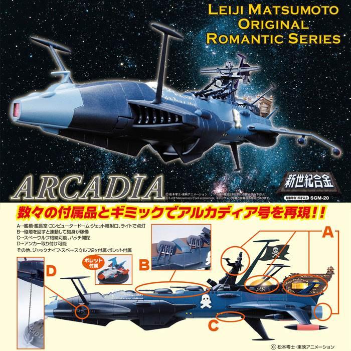 アオシマ 新世紀合金 宇宙海賊キャプテンハ-ロック アルカディア号